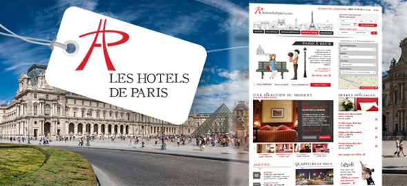 Les Hôtels de Paris - Sites Web et mobile - Agence Interactive Paris