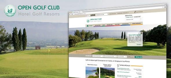 Open Golf Club - Sites Web et mobile - Agence Interactive Paris