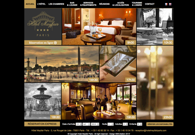 Hôtel Mayfair**** - Sites Web et mobile  - Agence digitale Paris