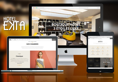 Hôtel Ekta*** - Sites Web et mobile - Agence Interactive Paris