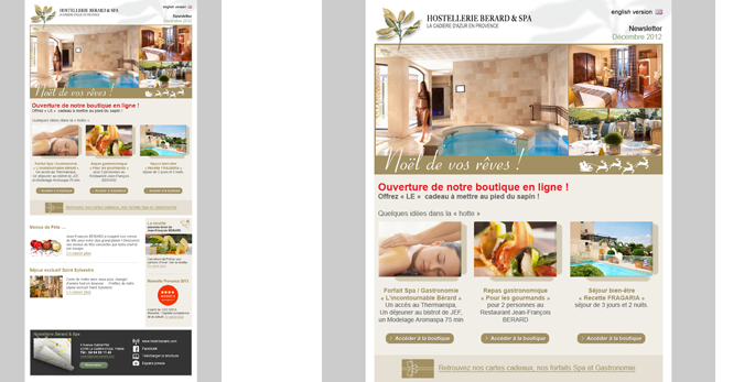 Une newsletter promotionnelle