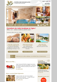Hostellerie Berard - Newsletters et emailings - Web agency Paris