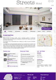 Streets Hotel - Sites Web et mobile  - Agence web paris